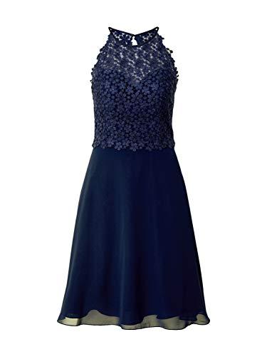 Luxuar Damen Cocktailkleid Nachtblau 38