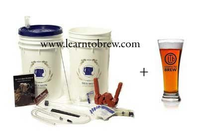 Learn To Brew LLC Basic Home Beer Brewing Kit with 5 gal India Pale Ale (IPA) Ingredients Included
