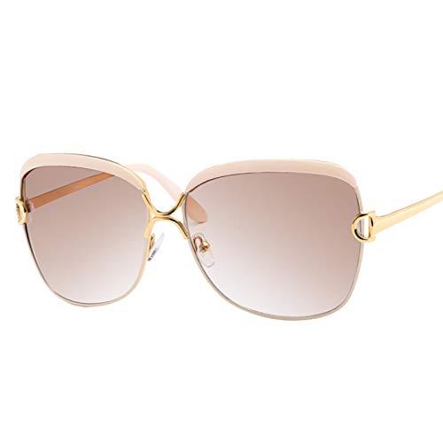 HAOMAO Gafas de Sol cuadradas Elegantes para Mujer Diseñador de la Marca de Lujo Gafas de Sol Vintage Blanco