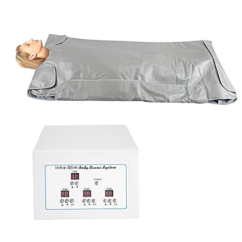Manta de calentamiento de sauna de infrarrojo lejano, modelador de cuerpo para pérdida de peso Terapia de desintoxicación profesional Máquina de belleza antienvejecimiento para salón de belleza(EU)