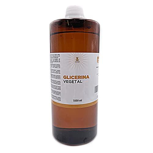 1000 ml - Glicerina oral y cosmética, Pureza +98% (Glicerina vegetal). Glicerina comestible, cosmética, piel, cabello,líquidos de vapeo. Glicerina natural