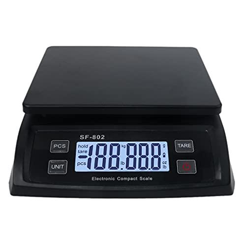 MSEKKO Báscula de envío Digital 66 LB / 0,1 oz (30 kg / 1 g) Báscula de Peso Postal con función de retención y Tara Báscula de envío de Correo