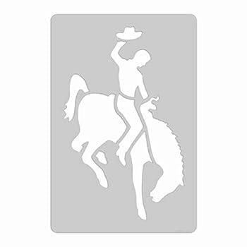 XL Stencil - Rodeo Cowboy on Bucking Bronco