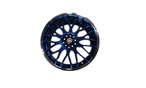 Golbalaccessories Cuatro ruedas de aleación Yazmine de 17 pulgadas x 7.0 azul y pulido para 5 x 100 y 5 x 110 ET40.