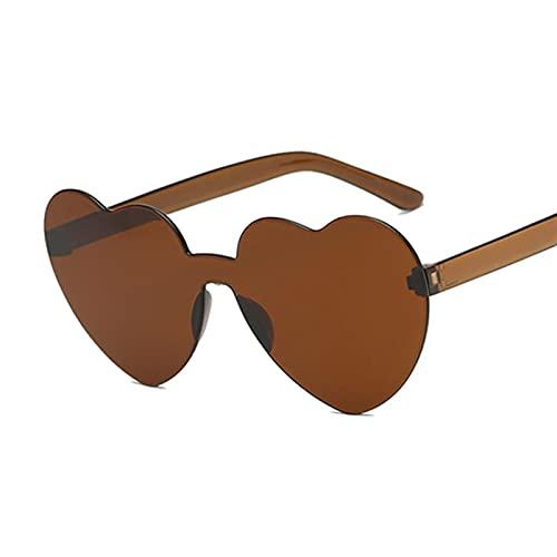 Gafas de Sol Vintage Sunglass Moda Amor corazón Gafas de Sol Mujeres Linda Sexy Retro Gato Ojo Vintage Barato Gafas de Sol Femenino Gafas de Sol (Lenses Color : Brown)