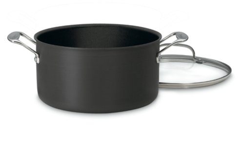 Cuisinart 644-24 Chef's Classic Nonstick Hard-Anodized 6-Quart Stockpot with Lid