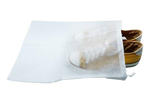 Pack de 10 bolsas para guardar zapatos, resistentes al polvo, ideales para proteger los zapatos en acampadas o viajes