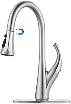 WOWOW Magnetic Kitchen Faucets With Pull Down Sprayer