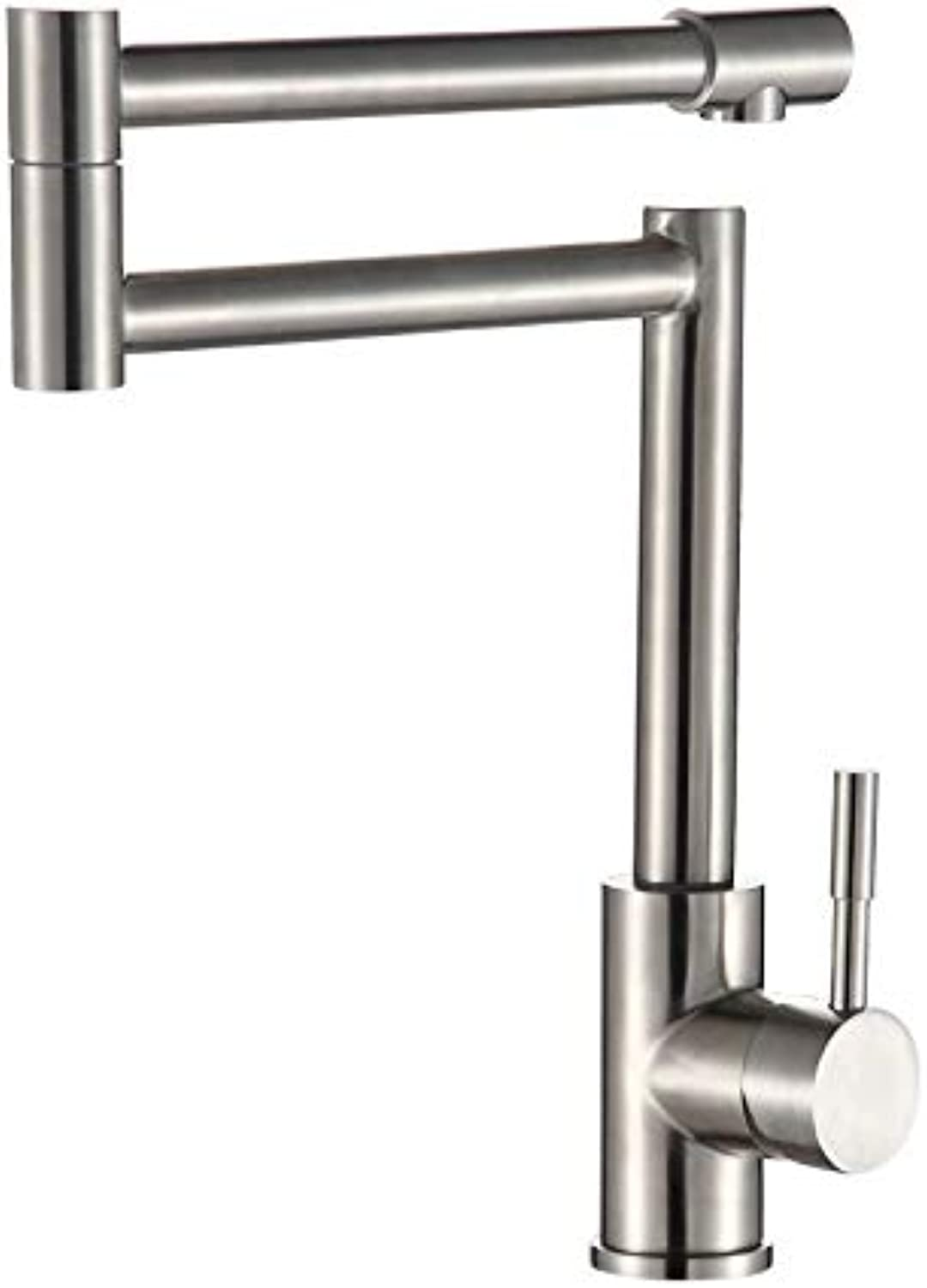 redOOY Taps 304 Stainless Steel Faucet Kitchen Hot And Cold Lead-Free Collapsible Sink Basin Above Counter Basin Faucet