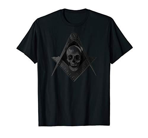 Masonic Stealth Square Compass Skull Freemason T-Shirt
