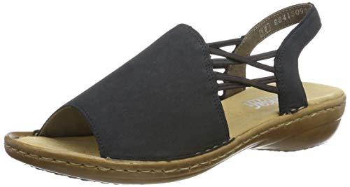 Rieker Damen 608D1-14 Geschlossene Sandalen, Blau (Pazifik 14), 41 EU