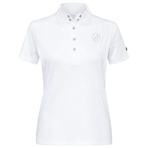 Shirt Starlight Kinder Turniershirt Weiss mit Strass Gr.164 (L)
