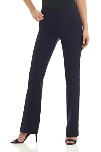 Rekucci Women's Ease into Comfort Boot Cut Pant (8,Navy)