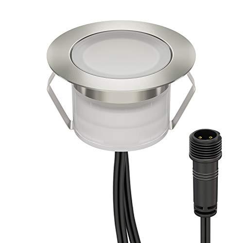 LED vloerinbouwlamp BIMI voor buiten wit, 50lm, IP67, 45mm Ø