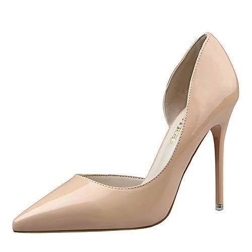 Mujer Zapatos de Tacón Simple Tacón Fino Charol Zapatos Individuales Alto Conde...