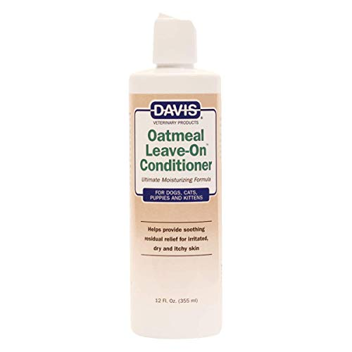 Davis Oatmeal Leave-On Dog and Cat Conditioner, 12-Ounce