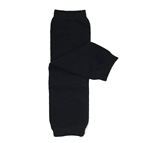 Wrapables Colorful Baby Leg Warmers, Solid Black