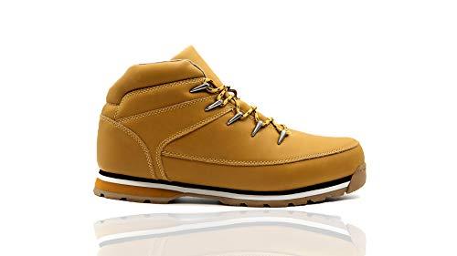 Mapleaf Hombre Botas Botines Zapatos Invierno Botas de Nieve Cálido Aire Libre Boots Urbano Senderismo Esquiar Caminando Botas Amarillio -41