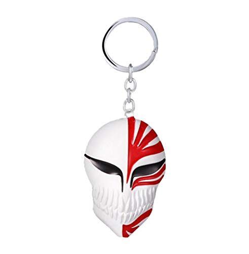 Weeck Anime Bleach Ichigo's Kamen Mask Metal Pendant Keychain (8)