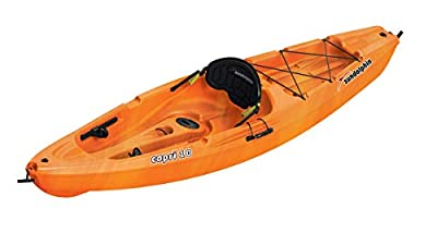 SUNDOLPHIN Capri Sit-On Recreational Kayak (Orange Swirl, 10-Feet)