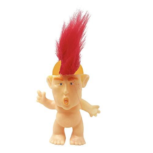 SM SunniMix Lucky Troll Dolls, Vintage Troll Dolls Mohawk Punk para Colecciones, Proyectos Escolares, Artes Y Manualidades, Regalos de Fiesta, 6 Cm de Alto, Peina - Mohawk