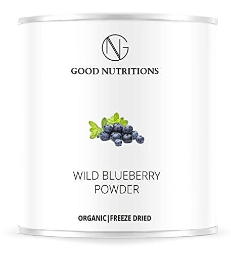 Heidelbeerpulver – Bio Heidelbeere gefriergetrocknet  bio organic  freeze-dried blueberry  good-superfruit von good-smoothie  100% frucht  ohne zusatzstoffe + viele Inhaltsstoffe  120g