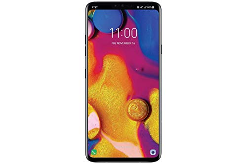 "LG V40 ThinQ 64GB GSM Unlocked (AT&T/T-Mobile) 5-Camera Smartphone w/ 6.4"" QHD+ Display - Aurora Black (Renewed)"