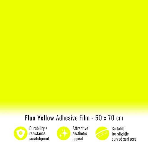 4R Quattroerre.it 16365 Klebefolie Film für Carwrapping, Fluogelb, 50 x 70 cm