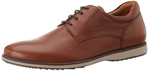 Geox U BLAINEY C, Zapatos de Cordones Derby Hombre, Marrón (Cognac C6001), 41.5 EU