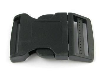 La Patte Verte Boucle en Plastique 40mm / 4 cm pour Sangle, Bracelets en paracorde/Collier pour Chien, Fermeture à clic Lot de 2