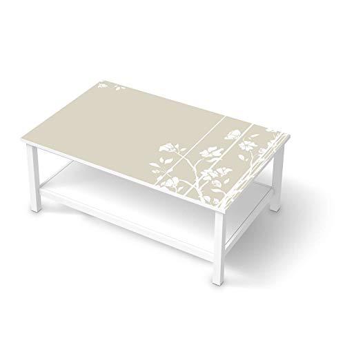 creatisto Möbeltattoo passend für IKEA Hemnes Couchtisch 118x75 cm I Möbeldekoration - Möbel-Aufkleber Folie Tattoo I Deko DIY für Schlafzimmer, Wohnzimmer - Design: Florals Plain 3