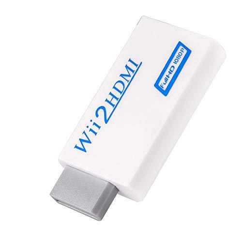 Gedourain Procesamiento de señal avanzado Wii2HDMI Adaptador de Audio y Video Adaptador de TV para Adaptador de Wii a HDMI