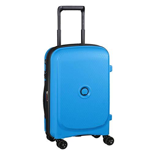 DELSEY Paris Belmont Plus Maleta, 55 cm, 32.1 litros, Azul Metalico