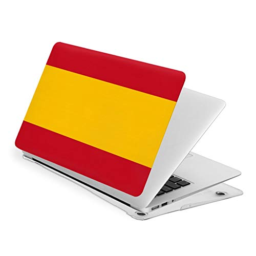 NFGrfd Spanish Flag Waterproof Pv Laptop Protector, Hard Shell Case with Bottom Cover Compatible with MacBook Air13
