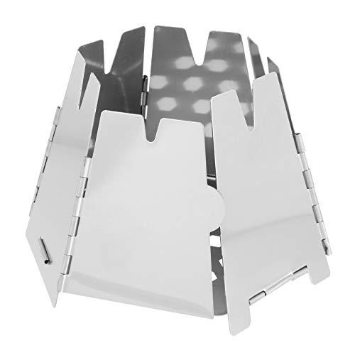 Abaodam Estufa de camping portátil ligera plegable estufa de leña para al aire libre