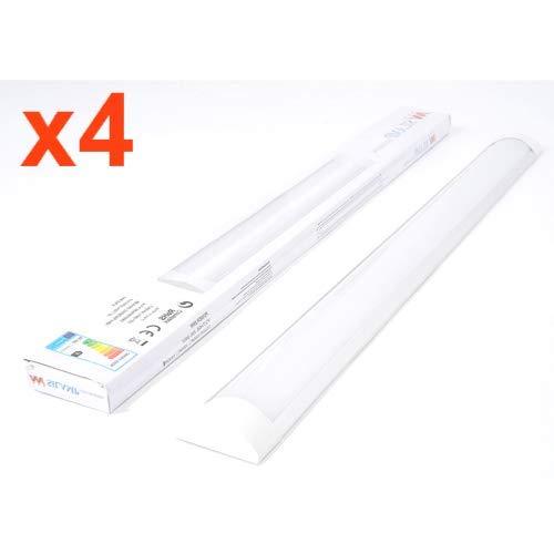 Réglette lumineuse LED 120cm 36W (Pack de 4) - Blanc Froid 6000K - 8000K - SILAMP