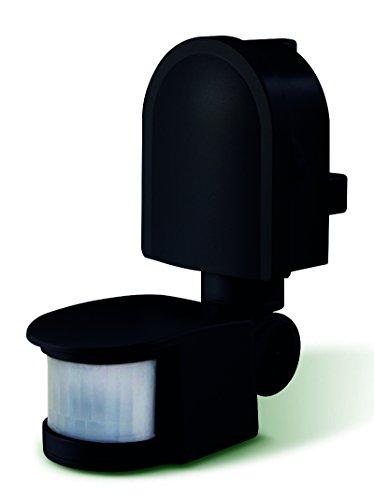 Luceco LED Guardian Outdoor Motion Sensor Tilt and Swivel IP44 180 Degree PIR Lux, Black, Polycarbonate, 1200 W