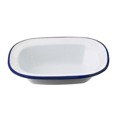 Lakeland Traditional Enamel 16cm Oblong Pie Dish