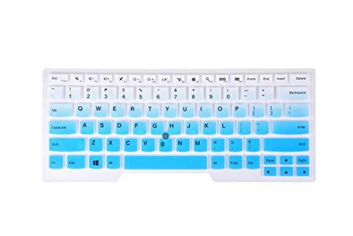 Keyboard Cover Skin Compatible with Lenovo Thinkpad X1 Carbon 14' 2016/2017/2018, ThinkPad A475 L460 L470, T460 T460p T460s T470 T470p T470s E480 E490 L480 T480s T480 - Graudal Blue