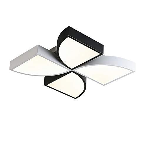 Deckenleuchten 丨 50CM * 9CM 丨 220V 丨 3 Farben beleuchten ultradünne LED-vierblättrige Kleeblattform, geeignet für das Arbeitszimmer Wohnzimmer-Restaurant-black