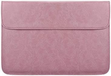 Shirenhua Soft PU Leather Laptop Sleeve for MacBook Air Pro 13 14 15 Inch Laptop Bag Notebook Tablet Case Color : Pink, Size : 13.3 inch
