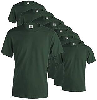 Publiclick Camisetas Lote (Pack 5) Unidades Keya, Camisetas Algodón 150gr Disponibles 13 Colores Diferentes