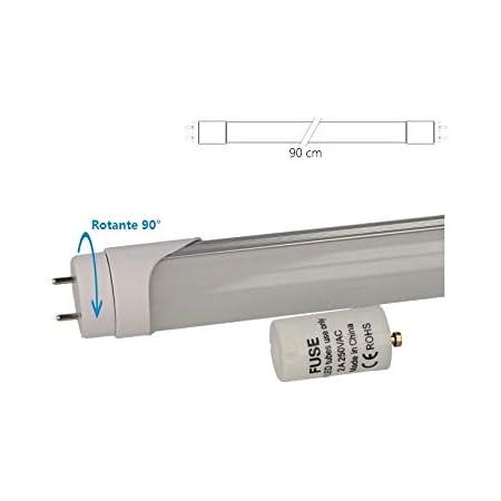 Tube LED T8 G13 90 cm, 14 W, blanc froid, alimentation d'un côté, sans modification, Tubes néon fluorescents