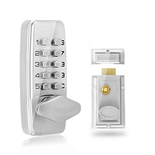 Codelocks, Digitales Passwort-Türschloss, 2-4-stelliges mechanisches Codeschloss-Kabinett für Innen- und Außentüren Sicherheitscodeschloss
