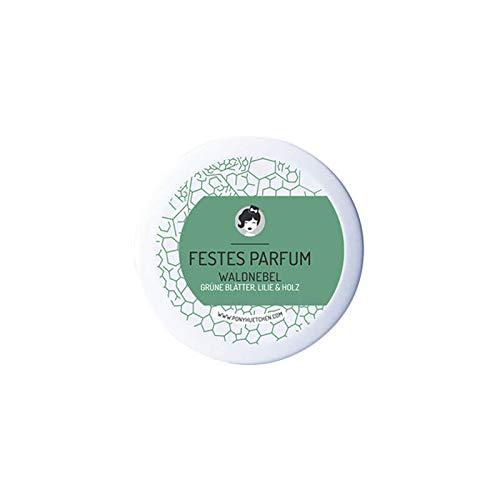 PonyHütchen Naturkosmetik festes Parfüm Waldnebel - herb-männlicher Duft - 12 ml - handgemacht - vegan - BIO