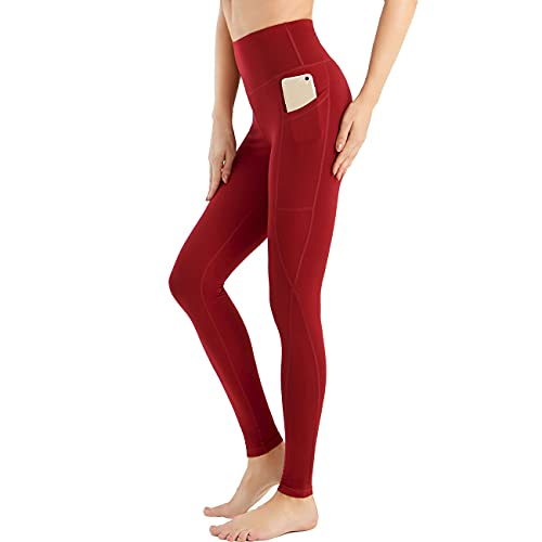 RYTMAT Pantalón de Yoga Mujer, Leggings Deporte Mujer Levantamiento de Cadera con 3 Bolsillos para Entrenamiento Fitness Running