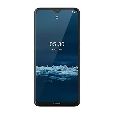 """Nokia 5.3 Fully Unlocked Smartphone with 6.55"""" HD+ Screen, AI-Powered Quad Camera and Android 10, Cyan, 2020 (AT&T/T-Mobile/Cricket/Tracfone/Simple Mobile)"""