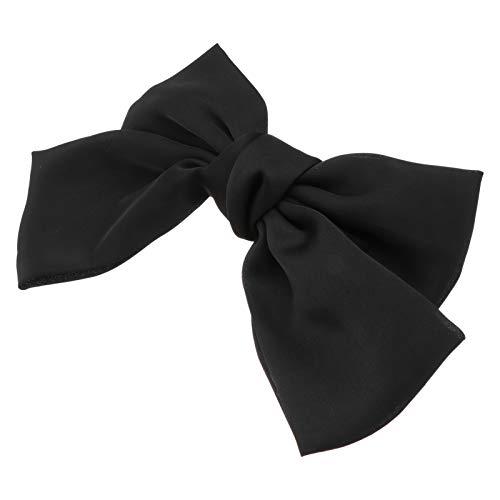 OSALADI 2 Pièces Grand Bowknot Barrette Barrette Bowknot Clip Satin Soie English Style Accessoires pour Femme (Noir)