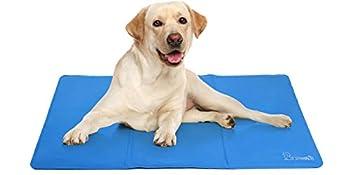 🐾 【2021 Nouvelle Mise à Niveau】La nouvelle mise à niveau des tapis rafraichissant pour chien animaux de compagnie adopte un PVC composite de Tissu Oxford de haute qualité d'une épaisseur de 0,4 mm, résistant à l'eau, aux rayures, à l'usure et plus du...