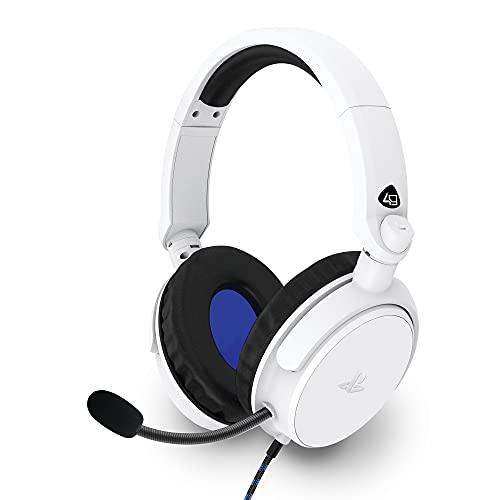 4Gamers PRO4-50s - Cuffie stereo con licenza ufficiale per PS4, colore: Bianco